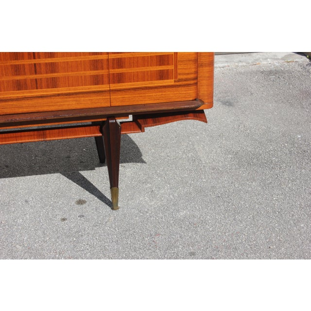 French Art Deco Macassar Ebony Sideboard Credenza For Sale - Image 10 of 13