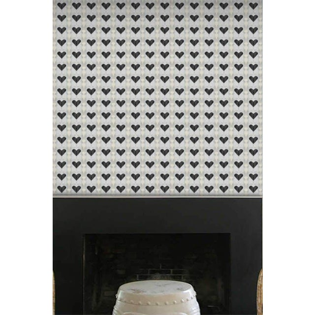 """Queen of Hearts Extra Small"" wallpaper is a medium scale print comprised of soft, fluid striations taken from an original..."