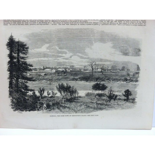"""This is an Antique The Illustrated London News Print that is titled """"Victoria - The Chief Town of Vancouver's Island"""". The..."""