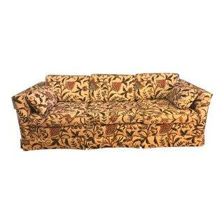 1980s Vintage Ethan Allen Crewel Embroidered Sofa For Sale