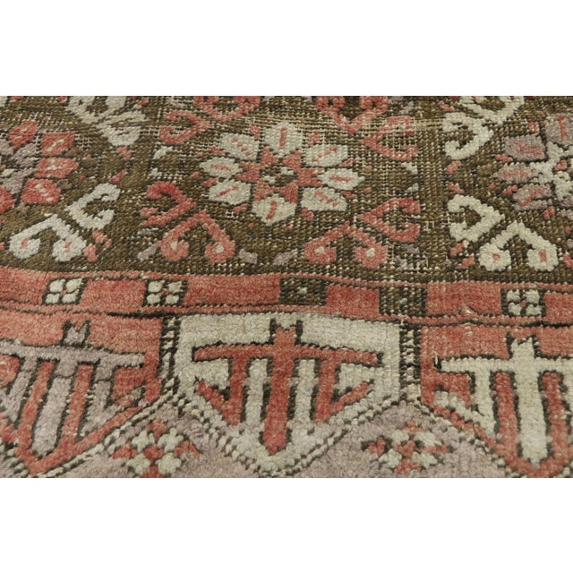 Vintage Turkish Oushak Runner - 3′6″ × 13′1″ For Sale - Image 4 of 10