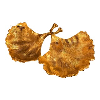 "Michael Aram ""Ginkgo Leaf"" Double Dish For Sale"