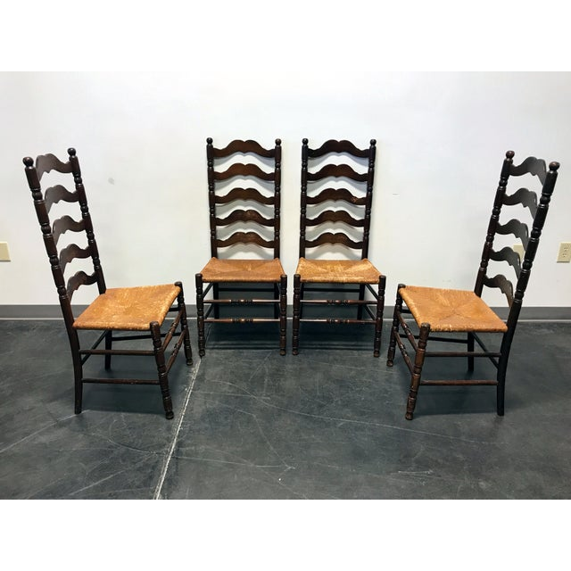 Tell City Vintage Ladder Back Dining Chairs - Set of 4 - Image 2 of 11
