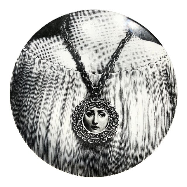 Vintage Fornasetti Plate For Sale
