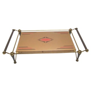 Machine Age Electric Footed Serving Tray For Sale