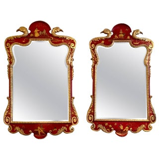 Superb Pair of 19th Century English Chinoiserie Mirrors For Sale