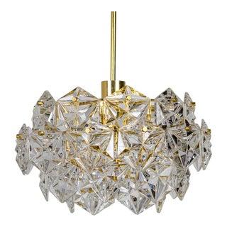 Vintage 1960s Kinkeldey Four Tier Crystal Pendant For Sale