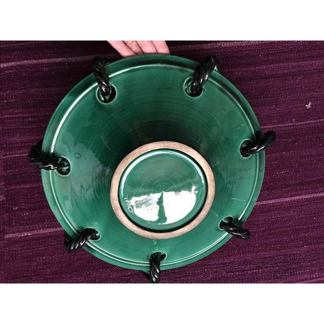 Green Mid 20th Century Vallauris Green and Black Mid Century Bowl For Sale - Image 8 of 10