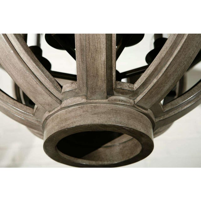 Customizable Paul Marra Large Carved Sphere Chandelier - Image 5 of 8