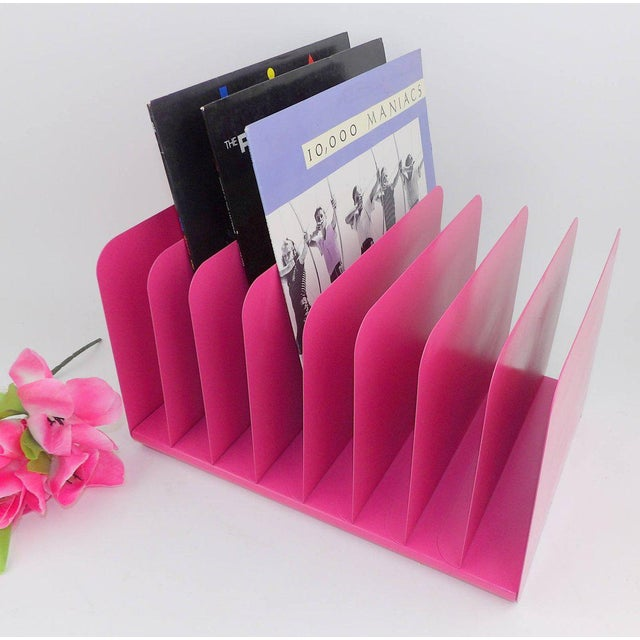 Pink Metal File Organizer For Sale - Image 4 of 8