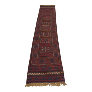 "Afghan Tribal Kilim Rug Runner-2'2'x10'1"" For Sale"