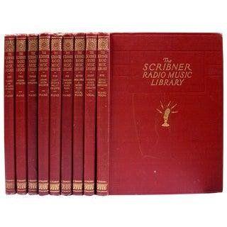 Vintage 1946 Scribner Radio Music Books - Set of 9