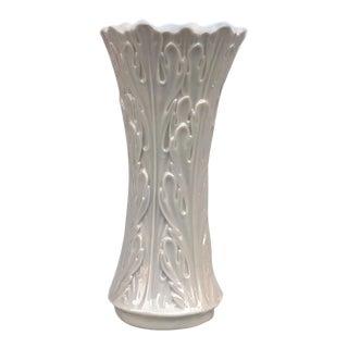 Vintage Lenox Woodland Floral Vine Flared Porcelain Vase For Sale