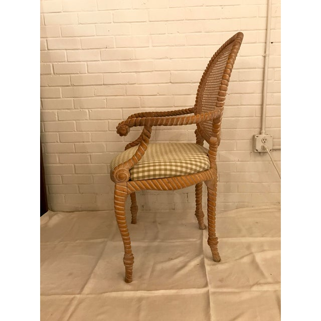 S/4 Andre Rope and Tassel Dining Chairs For Sale - Image 4 of 11