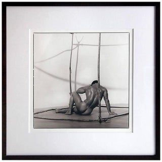 Early Silver Gelatin Print by Blake Little 'Untitled 'Man in Cube', 1990 For Sale