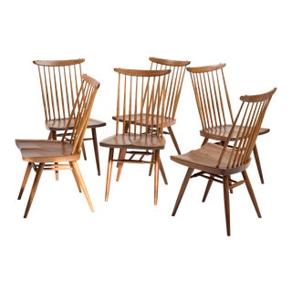 Set of Six Early George Nakashima New Chairs, United States, 1958 For Sale