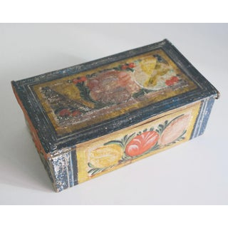 19th Century Folk Art Painted Wood Box Preview