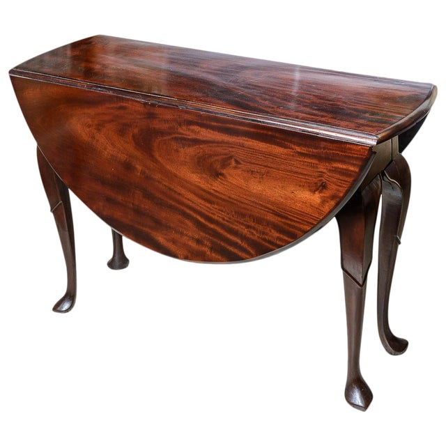Superior English Mahogany Drop Leaf Table Decaso