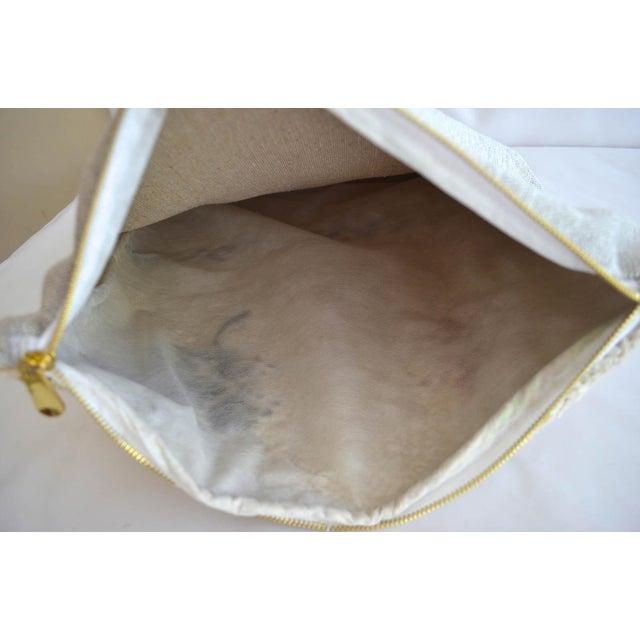 "1950s Inca Motifs Handmade Kilim Rug Hemp Pillow Cover Throw - 16"" X 16"" For Sale - Image 5 of 6"