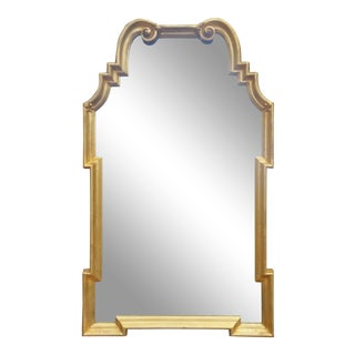 Mid-Century Chinoiserie Gilt Formal Mirror For Sale