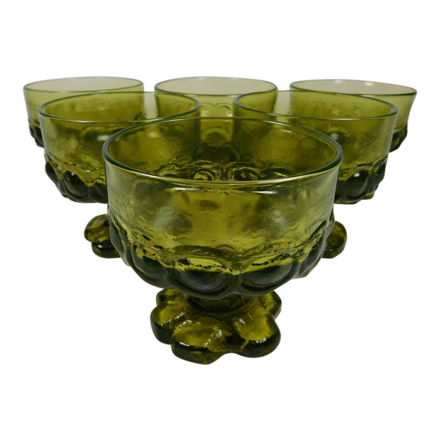 Franciscan Green Madeira Coupes - Set of 6 - Image 1 of 5