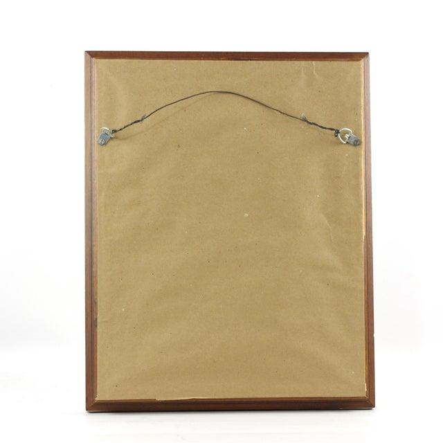 "Wood 1960s Vintage John Haymson Mid Century Modern Framed Print ""Boulevard Bridge, Chicago"" For Sale - Image 7 of 8"