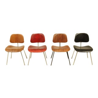 Set of four Evans editions of the Eames DCM chair For Sale