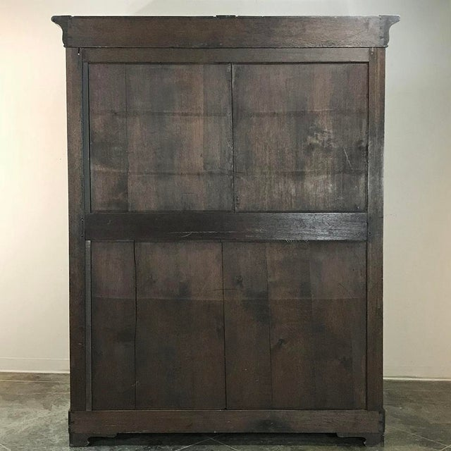 19th Century French Louis Philippe Period Burl Mahogany Armoire For Sale - Image 11 of 12