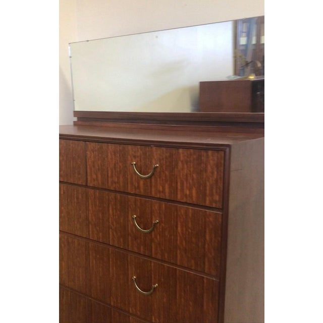 Meredew 1960s 1960's Meredew Lowboy Chest of Drawers With Vanity Mirror For Sale - Image 4 of 5