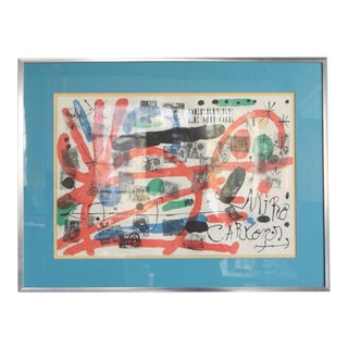 20th Century Surrealist Print, Derrière Le Miroir by Joan Miró For Sale