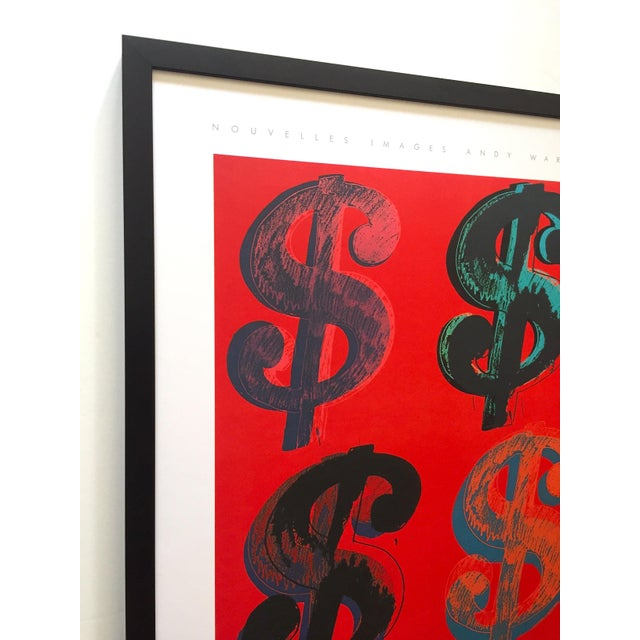 """Andy Warhol Andy Warhol Estate Rare Vintage 1989 1st Edition Lithograph Print Large Framed Pop Art Poster """" Dollar Signs """" 1982 For Sale - Image 4 of 13"""