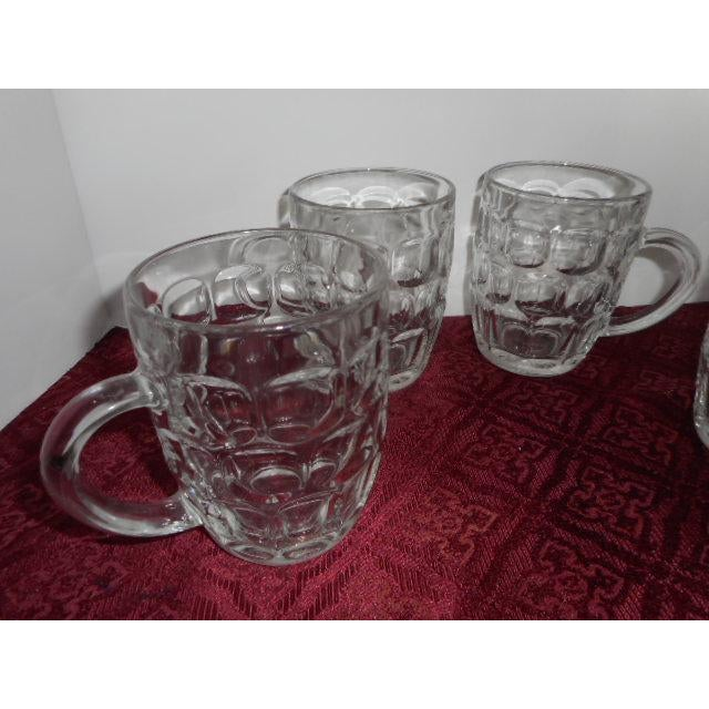 Mid-Century Modern Beer Mugs Thumbprint Glasses - Set of 4 For Sale - Image 3 of 5