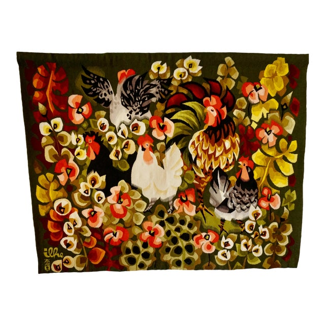 Handwoven French Tapestry by Henri Ilhe For Sale