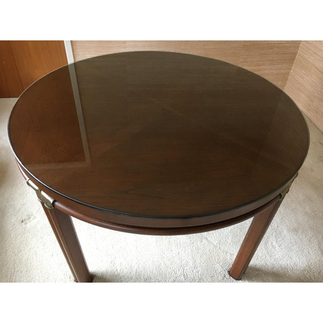 1980s Vintage Drexel Heritage Accolade Campaign Style Card Table For Sale - Image 5 of 12