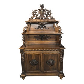 19th Century French Renaissance Revival Carved Server For Sale