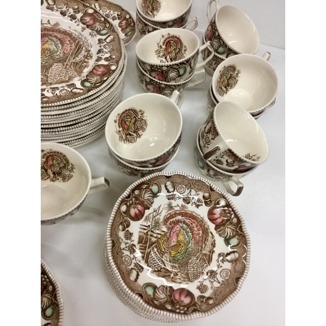 Ceramic Johnson Bros His Majesty Turkey Dinnerware - Set of 71 For Sale - Image 7 of 13