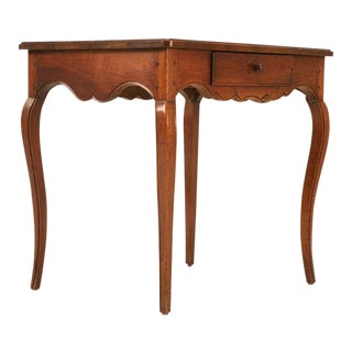 18th C. Antique French Louis XV Walnut Table For Sale