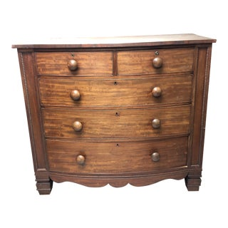 Mid 19th Century Antique Walnut Chest of Drawers For Sale