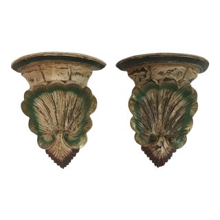 Venetian Shell Brackets - A Pair