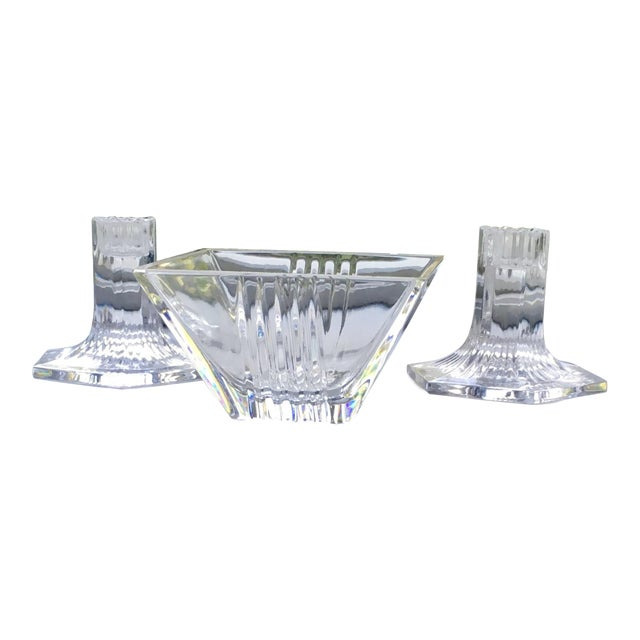 Vintage Tiffany Candleholders & Bowl S/3 For Sale
