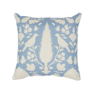 Contemporary Schumacher Chenonceau Pillow in Sky For Sale