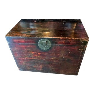 Mid 19th Century Antique Chinese Trunk For Sale