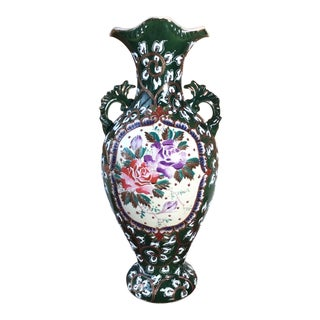 Hand Painted Art Nouveau Vase / Urn