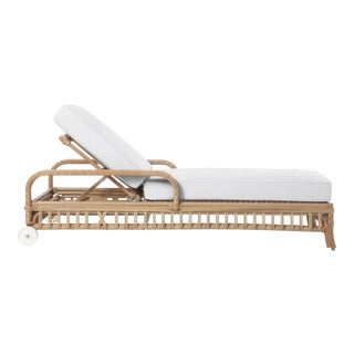 Viscaya Chaise Lounge in Natural Canvas For Sale