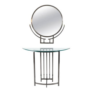 Design Institute of America (DIA) Mirror and Console For Sale