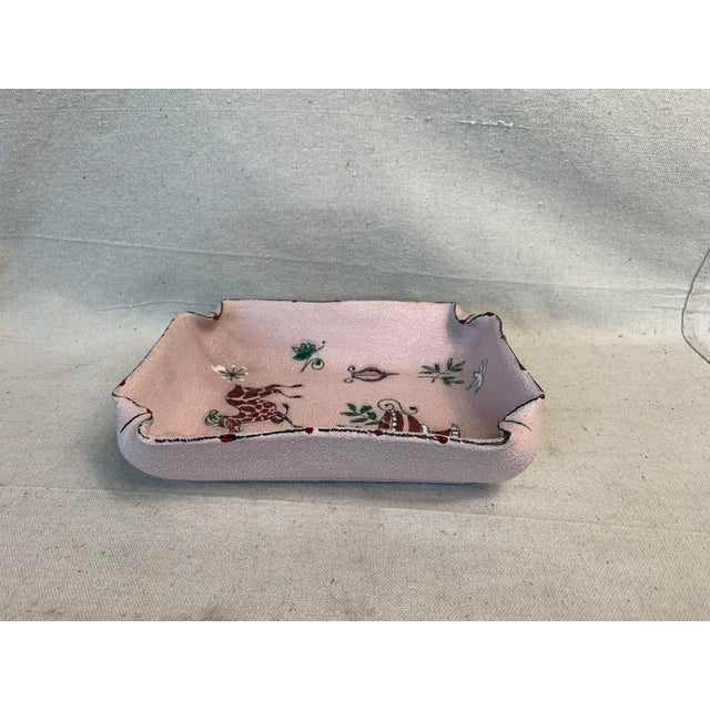 Pink Mid-Century Modern Fratelli Fanciullacci Ceramic Dish For Sale - Image 8 of 12