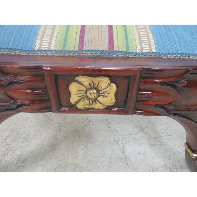 Brown Mahogany Regency Style Window Bench For Sale - Image 8 of 9