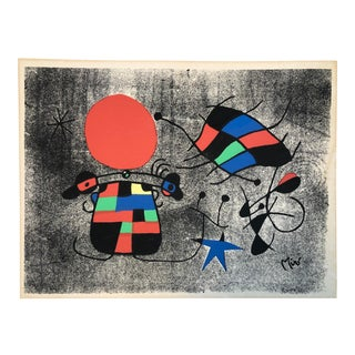 """Joan Miro Original """"The Smile of the Flamboyant Wings"""" Lithograph For Sale"""