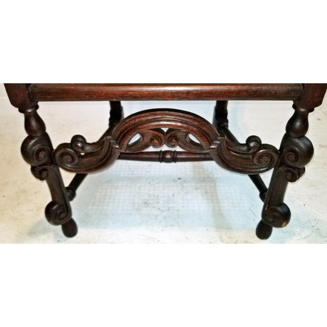 17th Century English William & Mary Oak and Cane Armchair For Sale In Dallas - Image 6 of 13