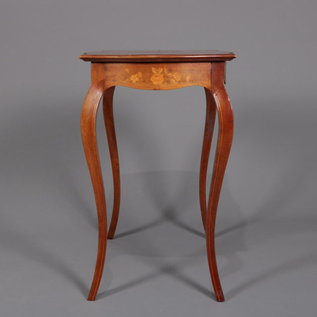 1900s French Marquetry, Mahogany With Satinwood Inlay For Sale - Image 10 of 13